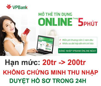 VP Bank - Mở thẻ tín dụng 100% Online và có thể nhận sau 48 giờ
